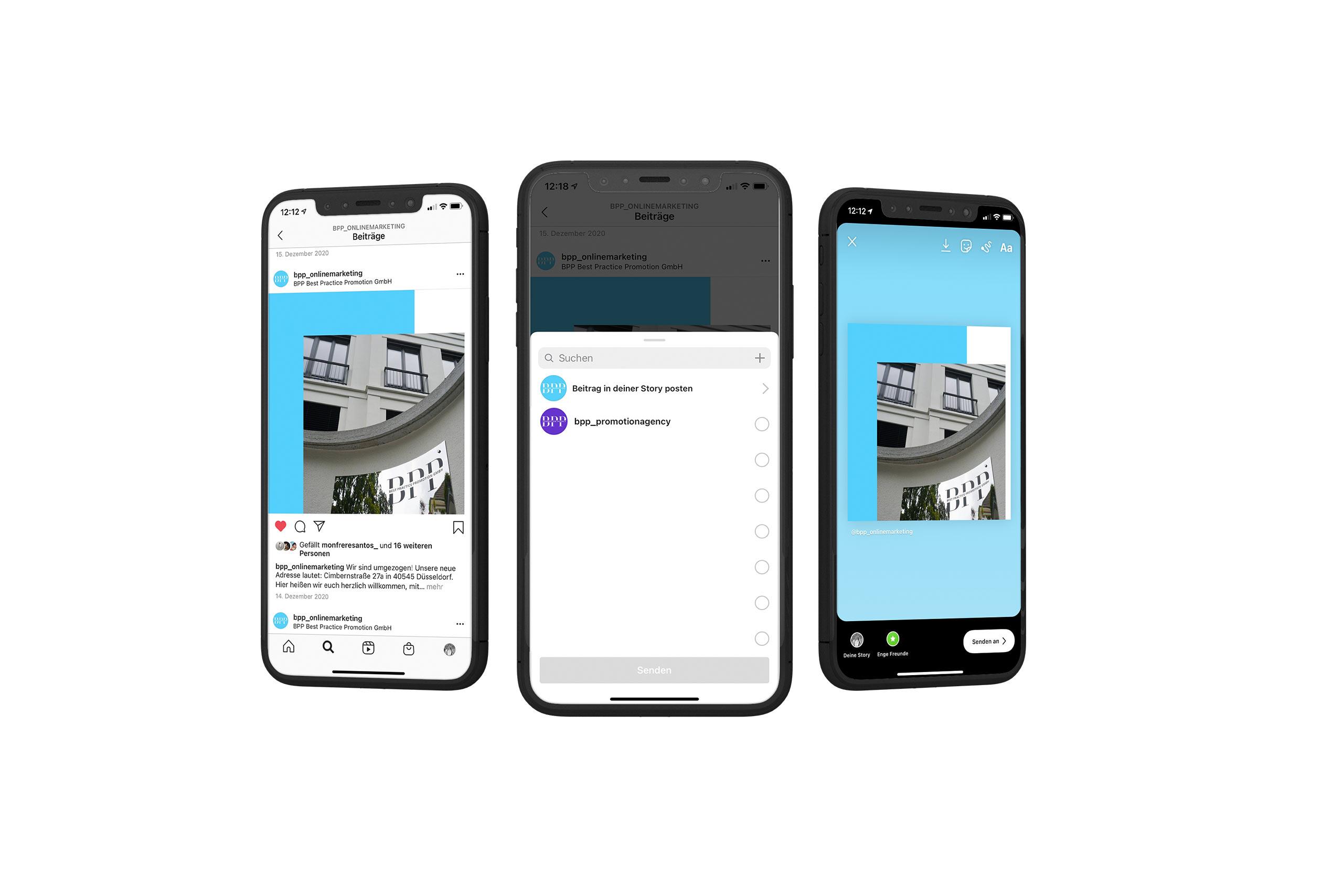 Business Profil auf Instagram, BPP GmbH
